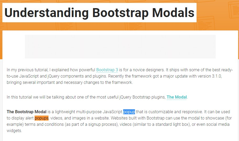 One more  handy  information  regarding Bootstrap Modal Popup
