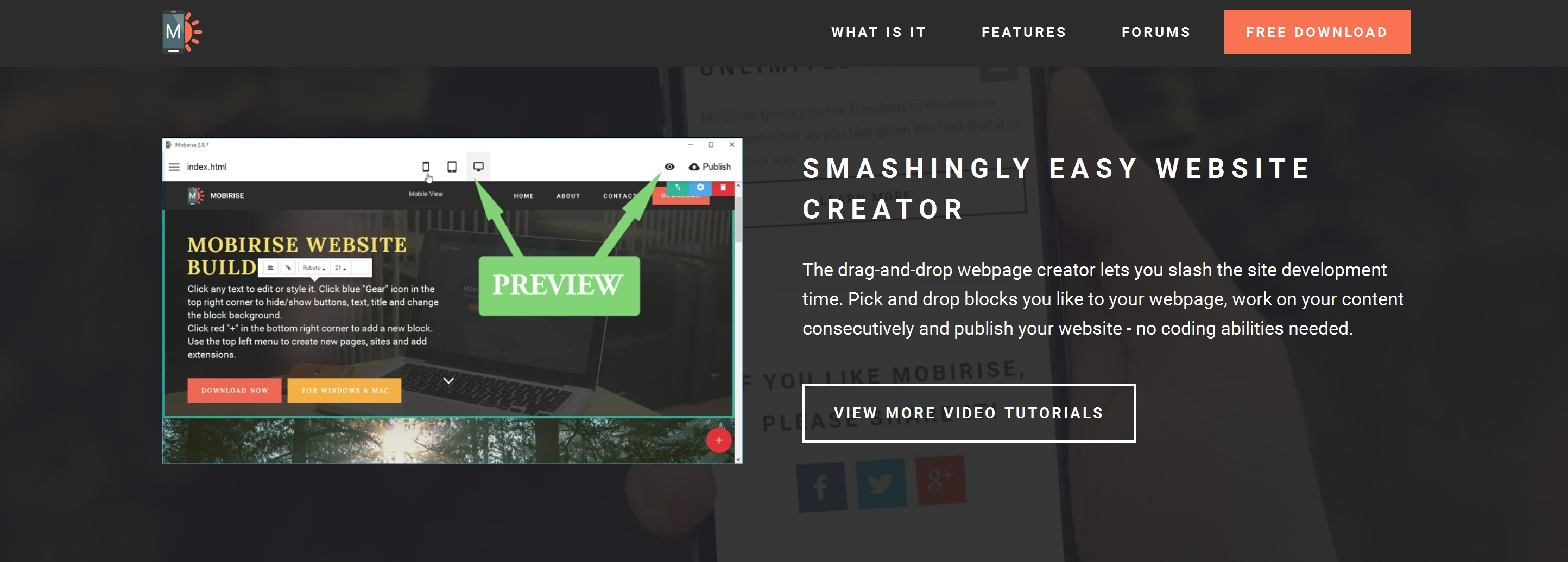 Responsive Web Page  Builder