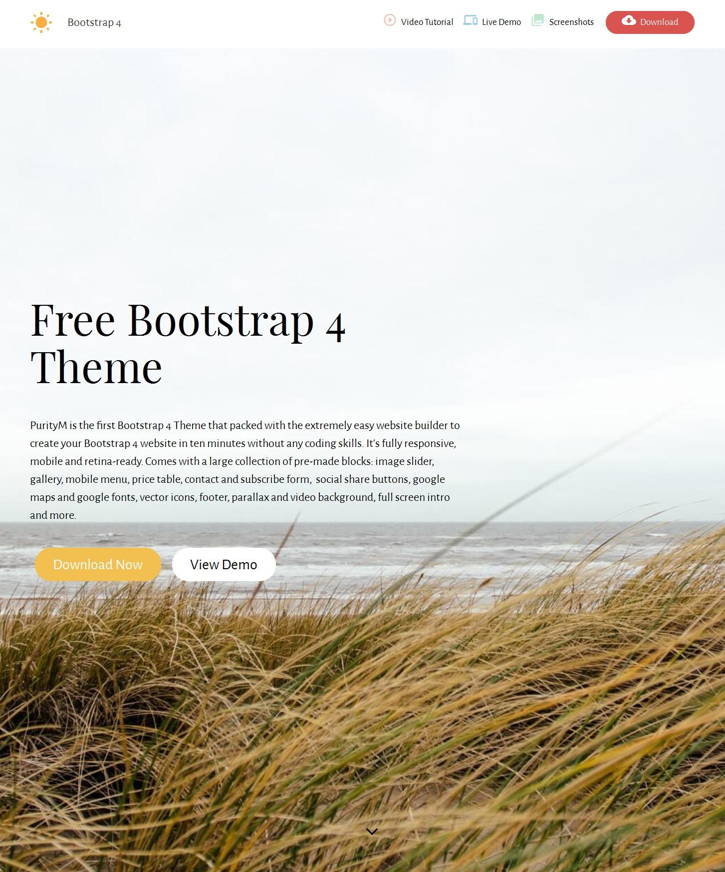 Responsive Bootstrap Blank Theme