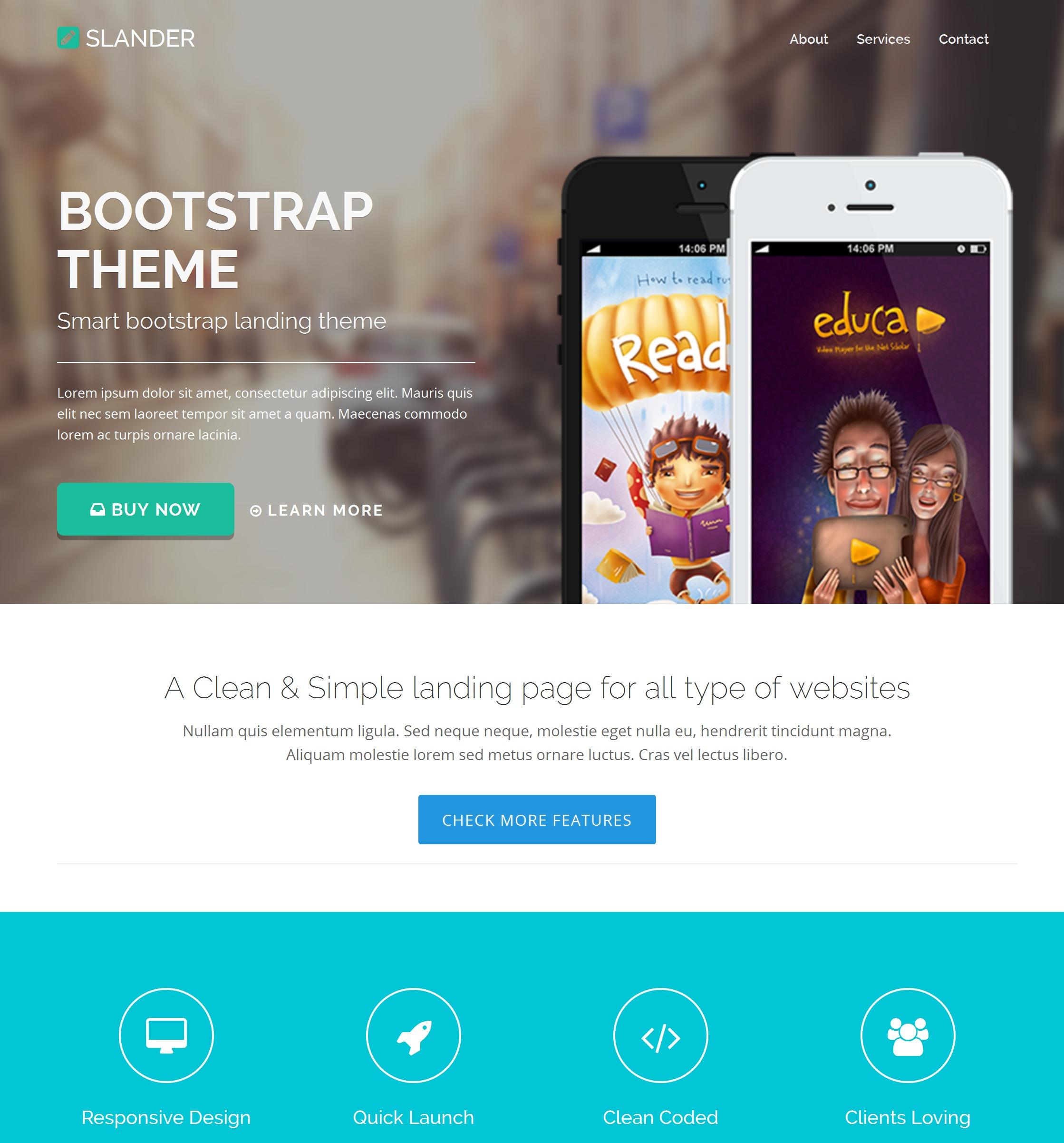 HTML5 Bootstrap Starter Theme