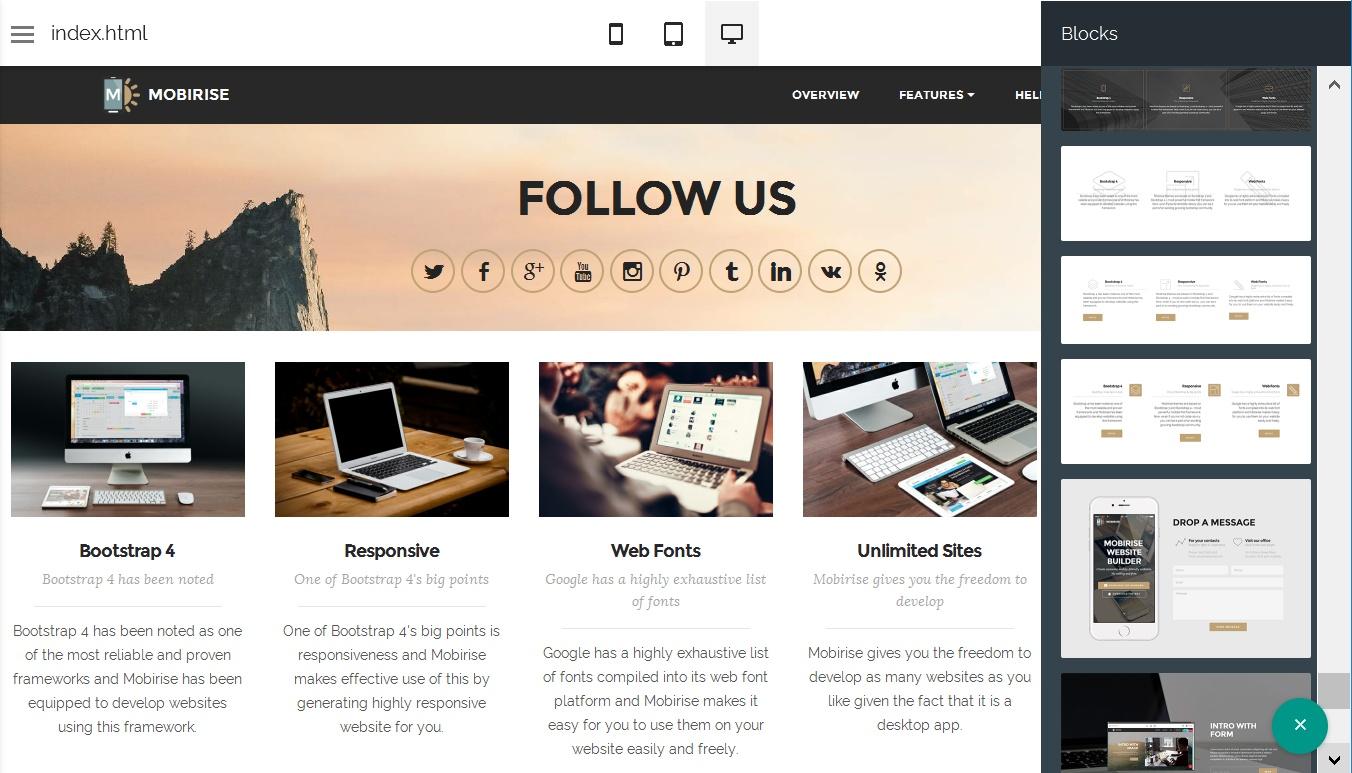 WYSIWYG Site Design Software
