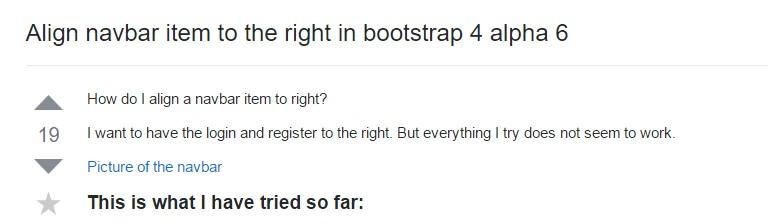 Regulate navbar item to the right  inside Bootstrap 4 alpha 6