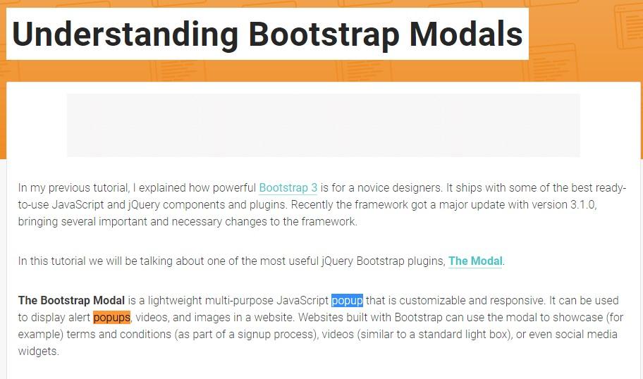 One more  handy  information  regarding Bootstrap Modal Popup