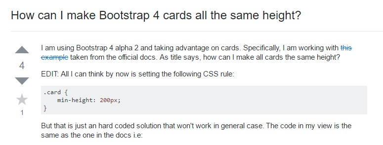 Insights on  precisely how can we form Bootstrap 4 cards  all the same  height?