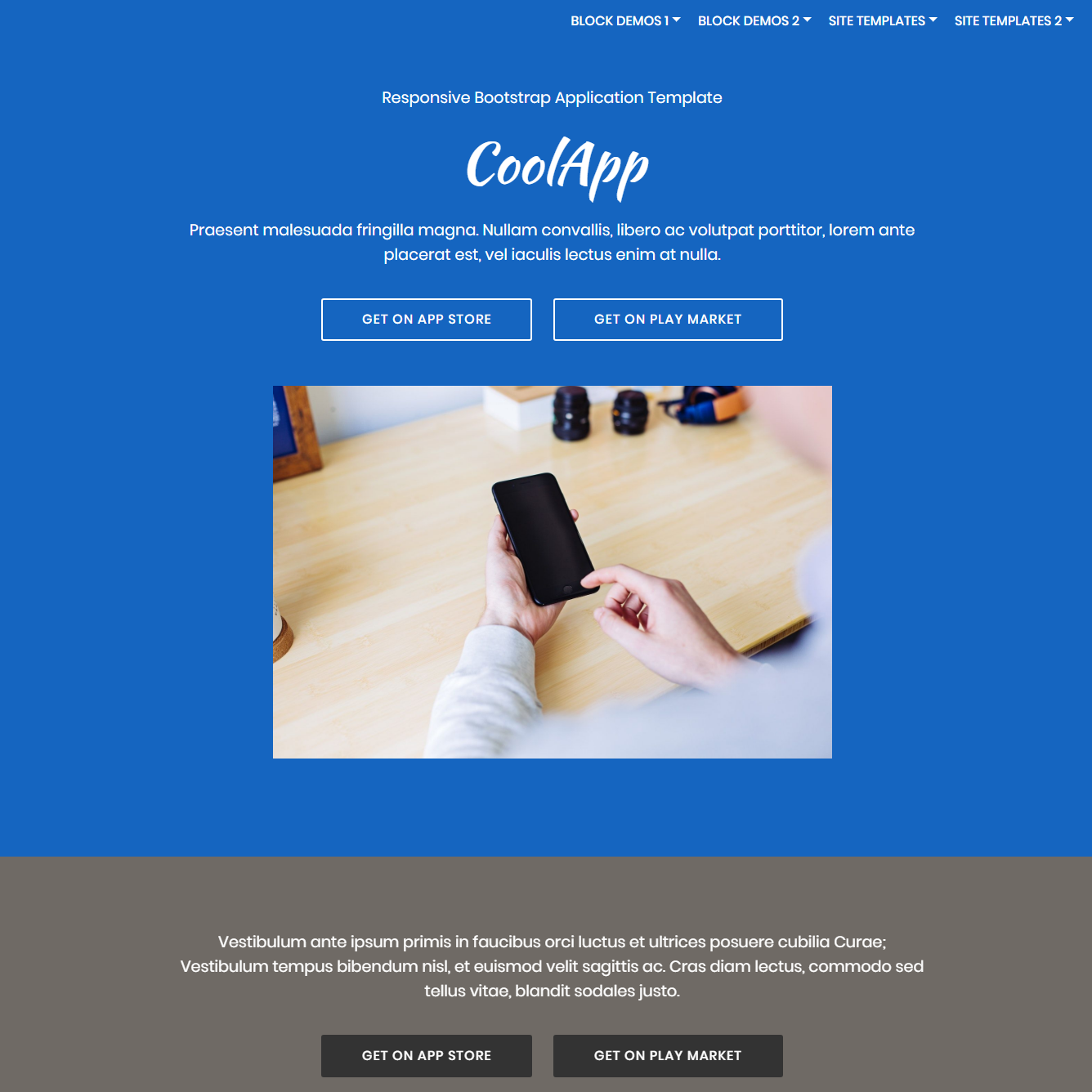 Free Download Bootstrap Application Themes