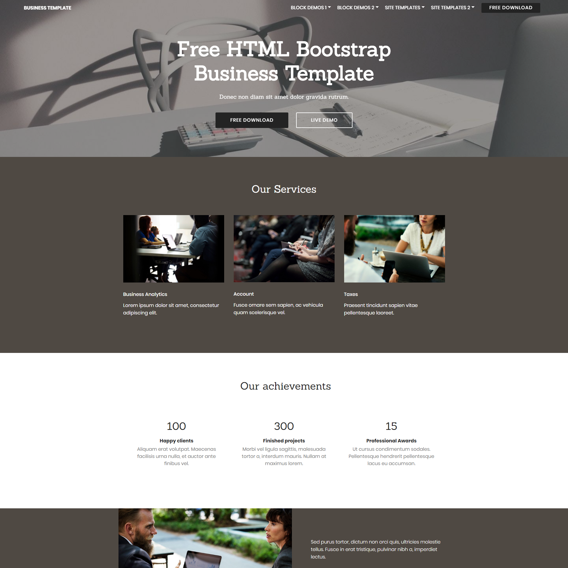 Responsive Bootstrap Busines Themes