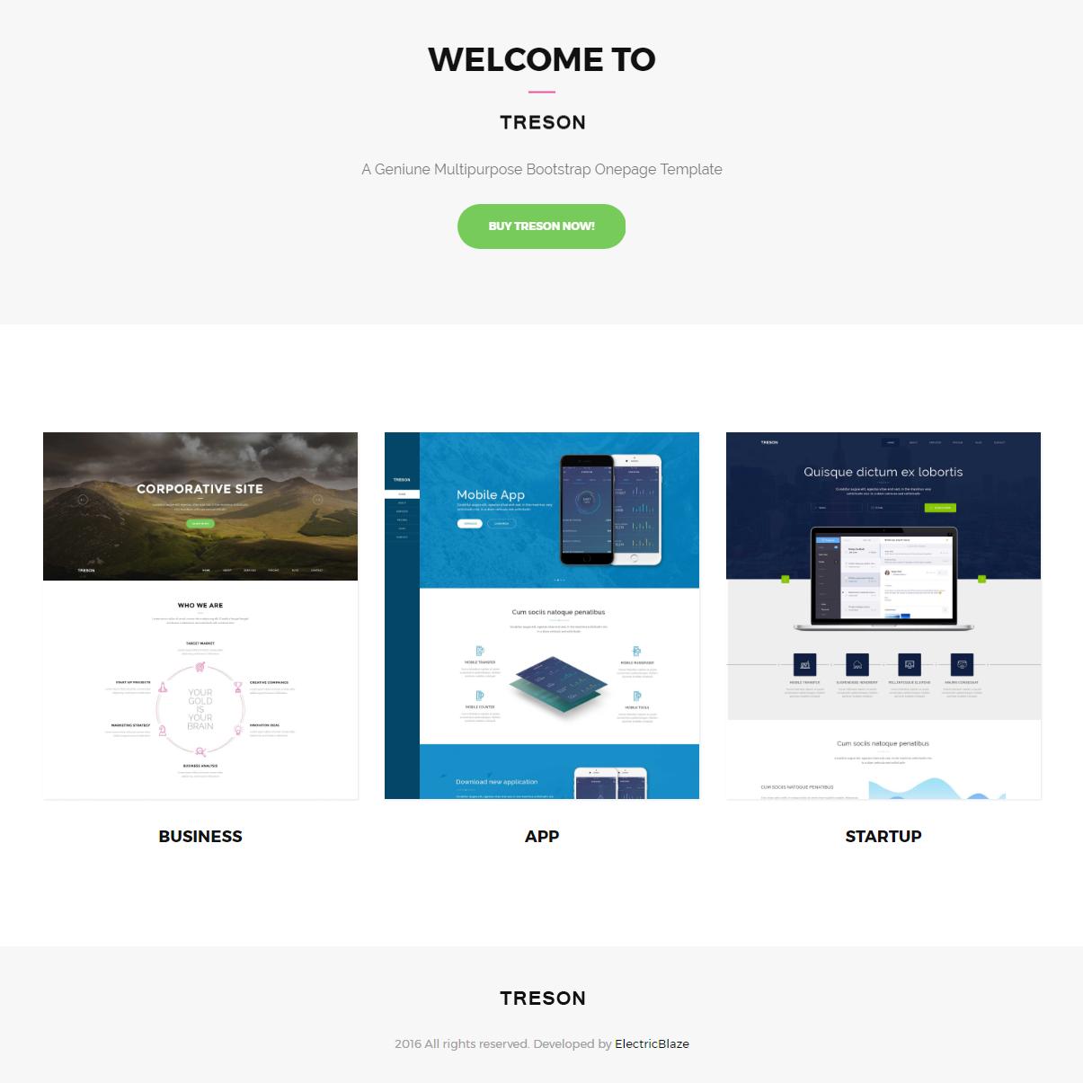 CSS3 Bootstrap Treson Themes