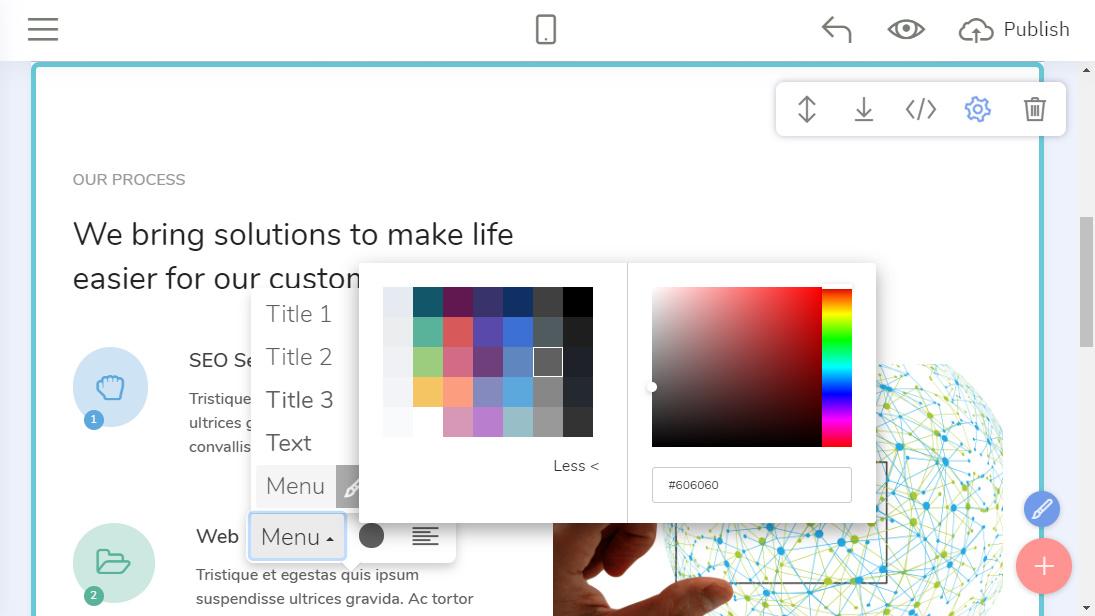 Mobile-Friendly Web Design Builder